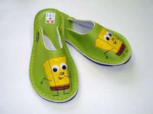 Leder Hausschuhe SpongeBob #2