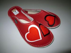 Usnjeni copati Love #1